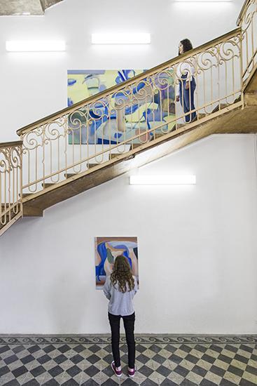 120 min. Installation of paintings