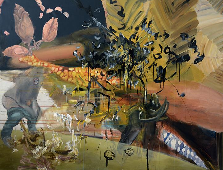 acrylic on canvas, 260cm x 200cm